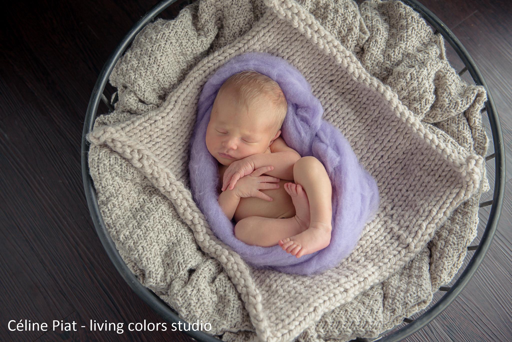 Photographe nouveau-ne Nantes et 44 - Olivia bébé 9 jours - 6d15bcfde37