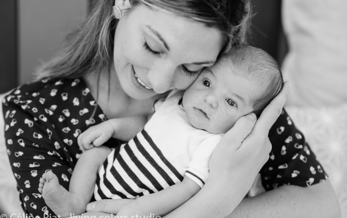 Séance photo famille Nantes avant & après la naissance – Augustin